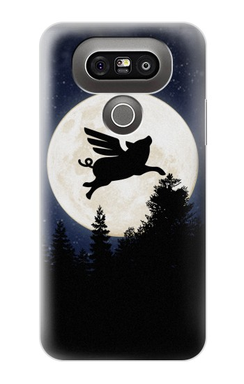 Printed Flying Pig Full Moon Night LG G5 Case