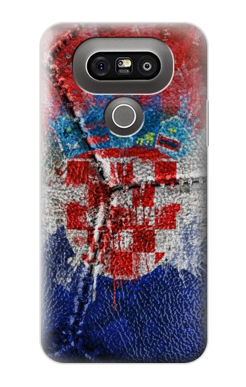 Printed Croatia Flag Vintage Football 2018 LG G5 Case