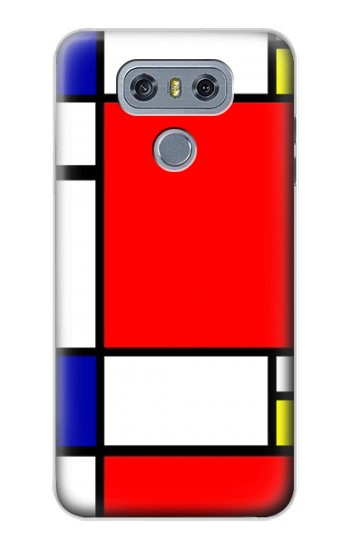 Printed Composition Red Blue Yellow alcatel Hero 2 Case