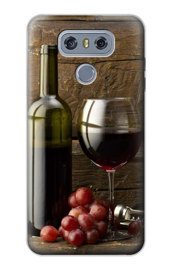 Printed Grapes Bottle and Glass of Red Wine alcatel Hero 2 Case