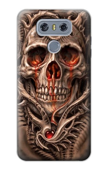 Printed Skull Blood Tattoo alcatel Hero 2 Case