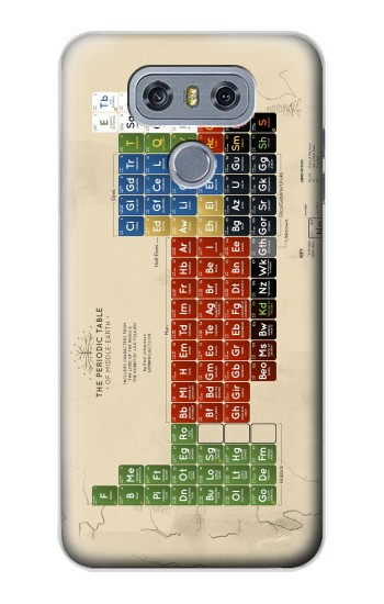 Printed The Periodic Table of Middle Earth The Lord of The Rings alcatel Hero 2 Case