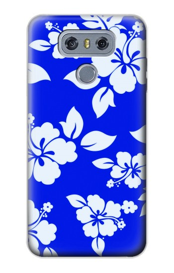 Printed Hawaiian Hibiscus Blue Pattern alcatel Hero 2 Case