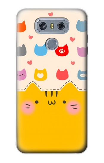 Printed Cute Cat Pattern alcatel Hero 2 Case