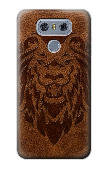 Printed Leo Tattoo Brown Leather alcatel Hero 2 Case