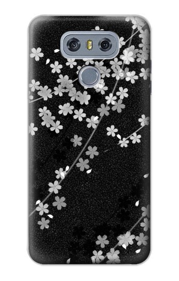 Printed Japanese Style Black Flower Pattern alcatel Hero 2 Case