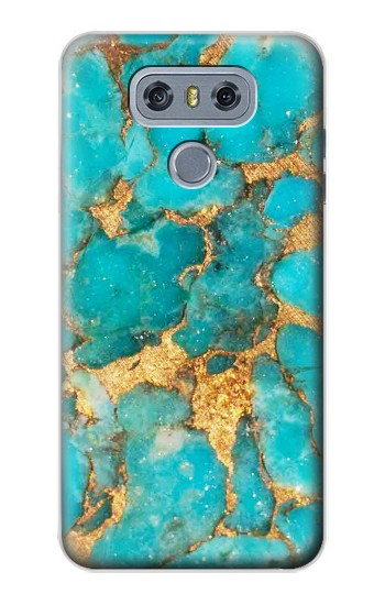 Printed Aqua Turquoise Stone alcatel Hero 2 Case