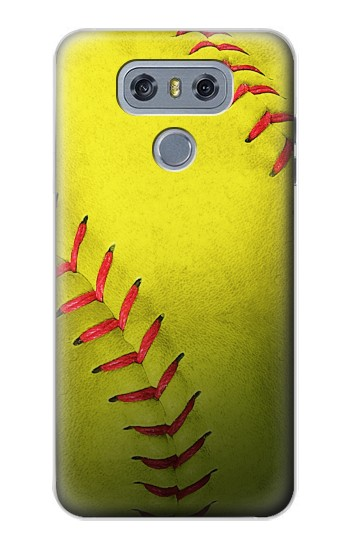 Printed Yellow Softball Ball alcatel Hero 2 Case