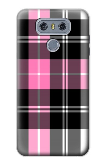 Printed Pink Plaid Pattern alcatel Hero 2 Case