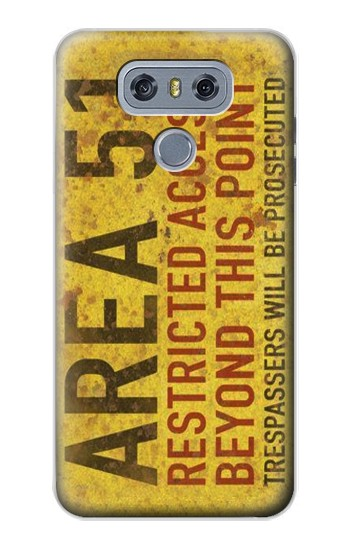 Printed Area 51 Restricted Access Warning Sign alcatel Hero 2 Case