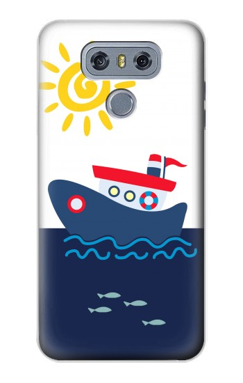 Printed Cartoon Fishing Boat alcatel Hero 2 Case