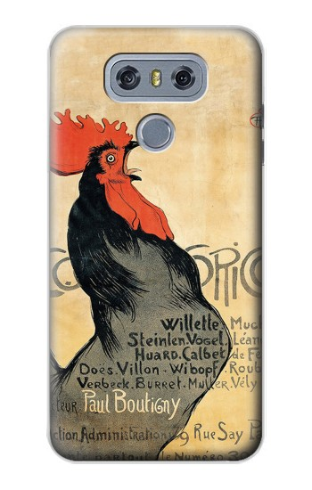 Printed Cocorico Rooster Vintage French Poster alcatel Hero 2 Case