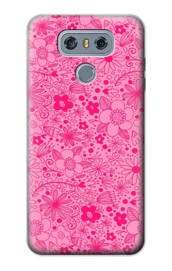 Printed Pink Flower Pattern alcatel Hero 2 Case