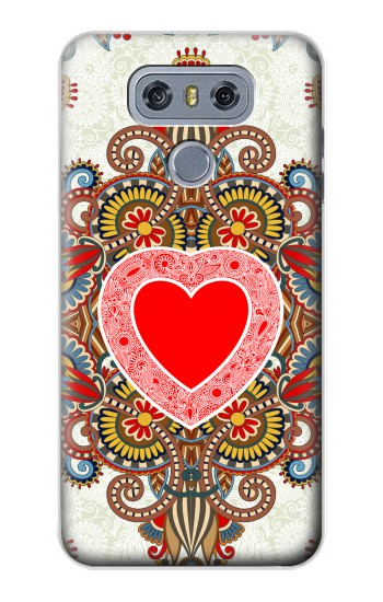 Printed Heart Pattern Line Art alcatel Hero 2 Case