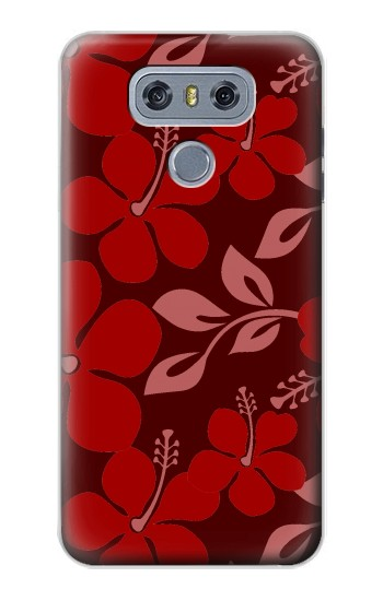 Printed Hawaii Dark Red Pattern alcatel Hero 2 Case