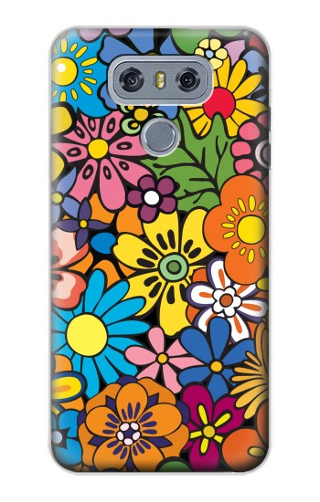 Printed Colorful Flowers Pattern alcatel Hero 2 Case