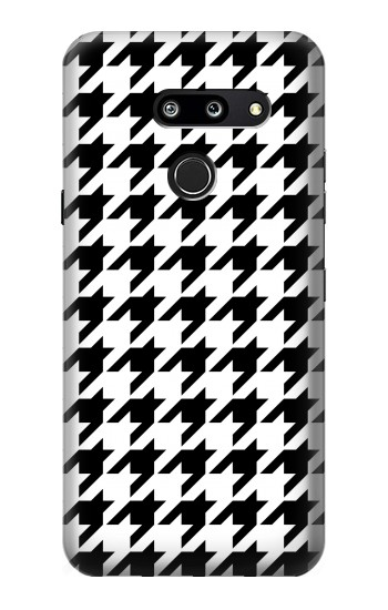 Printed Black White Houndstooth Monogram Pattern LG G8 ThinQ Case