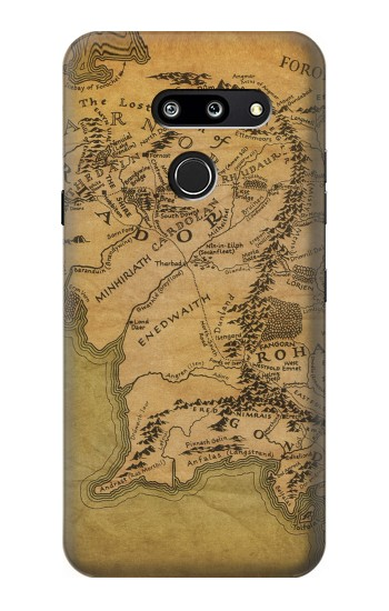 Printed The Lord Of The Rings Middle Earth Map LG G8 ThinQ Case