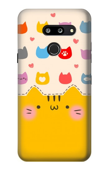 Printed Cute Cat Pattern LG G8 ThinQ Case