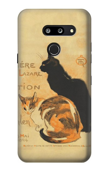 Printed Vintage Cat Poster LG G8 ThinQ Case