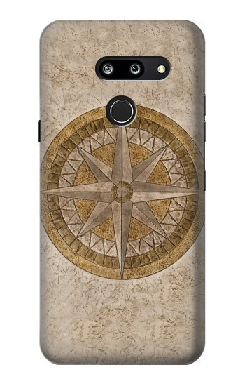 Printed Windrose Circle Stamp LG G8 ThinQ Case
