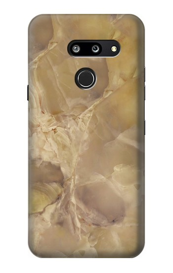 Printed Yellow Marble Stone LG G8 ThinQ Case