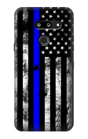 Printed Thin Blue Line USA LG G8 ThinQ Case