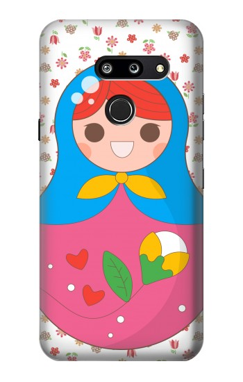 Printed Russian Doll Matryoshka LG G8 ThinQ Case