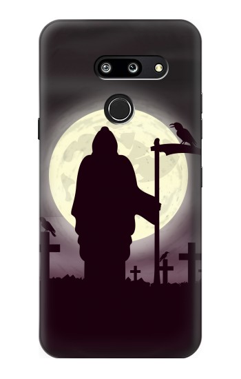 Printed Night Moon Cemetery LG G8 ThinQ Case