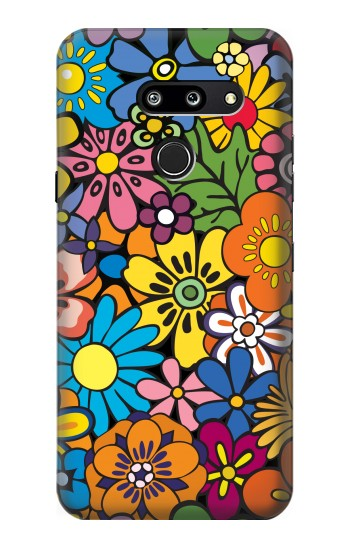 Printed Colorful Flowers Pattern LG G8 ThinQ Case