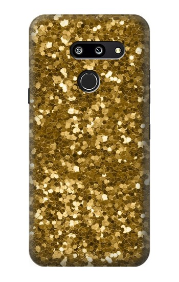 Printed Gold Glitter Graphic Print LG G8 ThinQ Case
