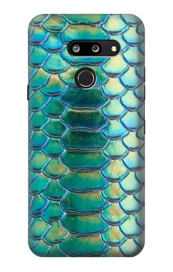 Printed Green Snake Scale Graphic Print LG G8 ThinQ Case