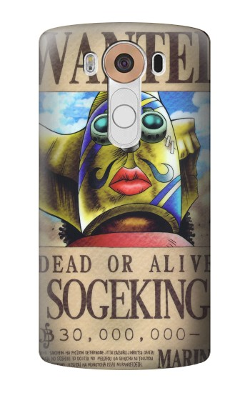 Printed One Piece SOGEKING Wanted Poster LG V10 Case