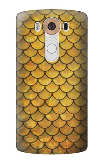 Printed Gold Fish Scale LG V10 Case