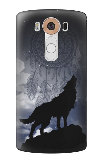 Printed Dream Catcher Wolf Howling LG V10 Case