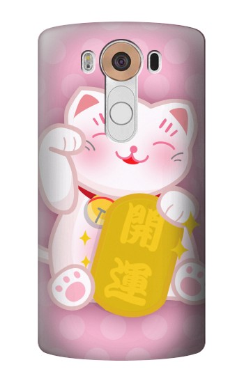 Printed Neko Lucky Cat LG V10 Case