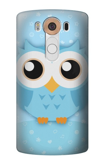Printed Cute Blue Owl LG V10 Case