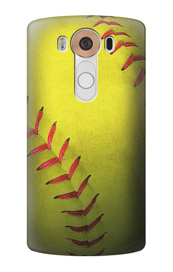Printed Yellow Softball Ball LG V10 Case