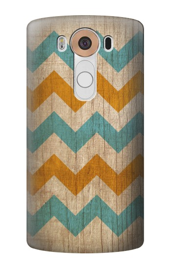 Printed Vintage Wood Chevron LG V10 Case