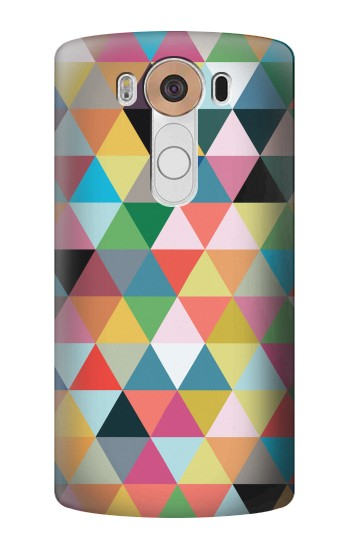 Printed Triangles Vibrant Colors LG V10 Case