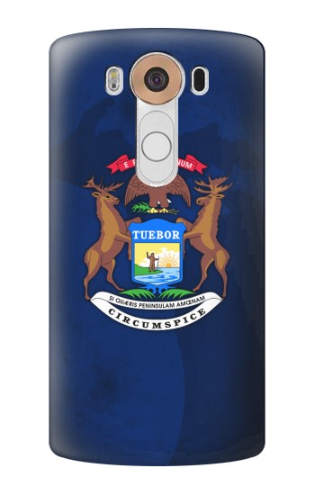 Printed State of Michigan Flag LG V10 Case