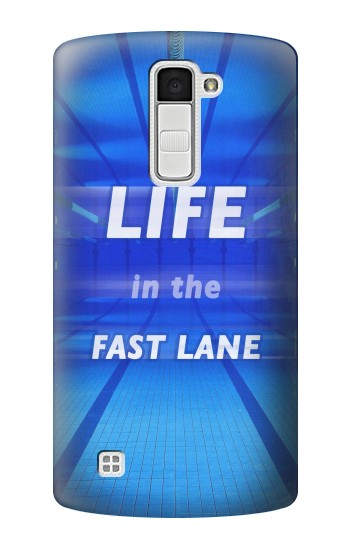 Printed Life in the Fast Lane Swimming Pool LG K10 Case