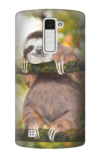 Printed Cute Baby Sloth Paint LG K10 Case