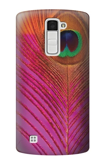 Printed Pink Peacock Feather LG K10 Case