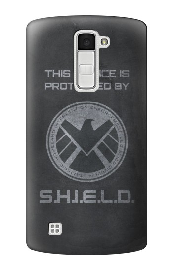 Printed This Device is Protected by Shield LG K10 Case