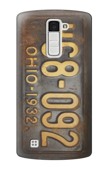 Printed Vintage Car License Plate LG K10 Case