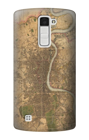 Printed Vintage Map of London LG K10 Case