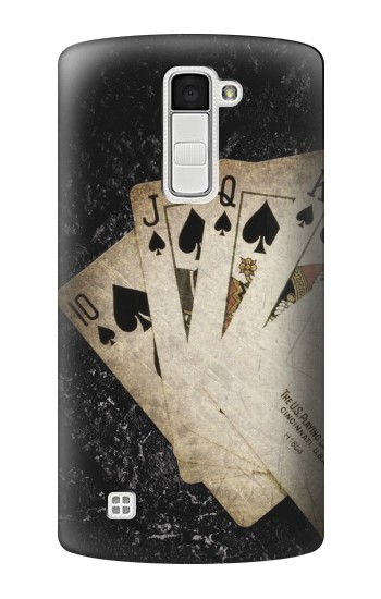 Printed Vintage Royal Straight Flush Cards LG K10 Case