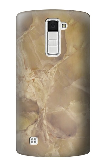Printed Yellow Marble Stone LG K10 Case