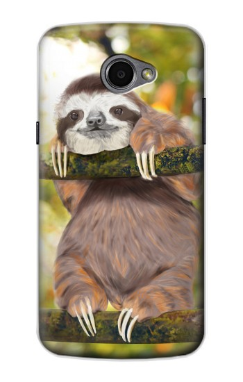 Printed Cute Baby Sloth Paint LG G Pro 2 Case